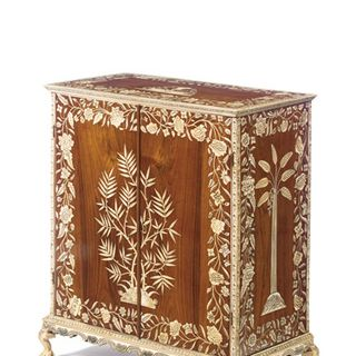 Intricate Ivory Inlay On Cabinet 1770 Shows A High Level Of Craftsmanship That Has