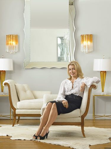Designer Jan Showers Perches On One Of Her Daniele Tête à Tête Seats In Her  Dallas