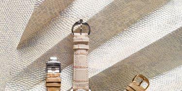 Product, Watch, Analog watch, Watch accessory, Strap, Metal, Khaki, Everyday carry, Grey, Tan,