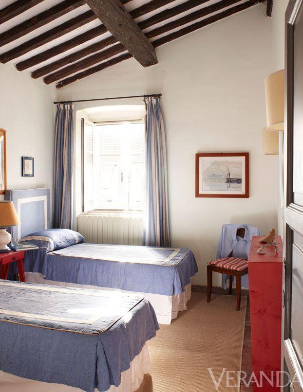 Tuscan Farmhouse Italian Villa,Opposite Color Of Blue Green