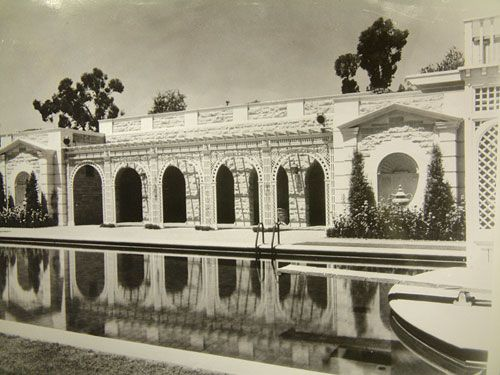 Pool and pavilion, 1928.