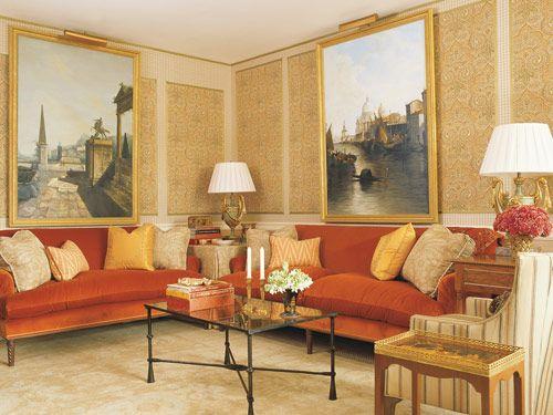 Genial Oil Paintings From Charlotte Moss Interior Design. Schumacher Fabrics On  Sofas, Chair, Pillows