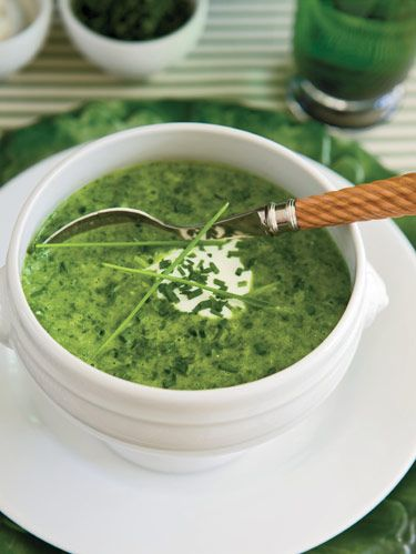 <p>Serves 4 to 6</p><p><strong>Ingredients:</strong></p><p>4 tablespoons olive oil<br /> 8 cloves garlic, peeled and diced<br />1 large sweet onion, diced<br />2 medium potatoes, peeled and cubed<br />4 cups chicken broth, plus more if needed<br />1 pound spinach, cleaned and chopped (baby spinach used here)<br />2 tablespoons lemon juice<br />½ teaspoon red pepper flakes (optional)<br />salt and pepper</p><p> </p><p><strong>Steps:</strong></p><p>Heat olive oil in soup pot over medium heat. When hot, add garlic, onion and potatoes. Sauté 3-4 minutes, stirring to prevent burning. Add chicken broth and bring to boil. Lower heat and cook until potatoes are soft. Turn off heat, stir in spinach and cover a few minutes until spinach is wilted. Add lemon juice and red pepper flakes, if using. Partially puree mixture with immersion blender or food processor, leaving it a little chunky. Add a little more broth if necessary</p><p> </p><p>Season with salt and pepper to taste, and serve.</p>