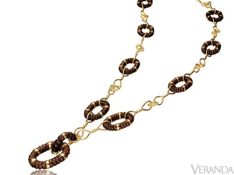 "Gold and Cocobola wood link necklace from Verdura, $22,500; 212-758-3388, <a href=""http://www.verdura.com/"" target=""_blank"">Verdura.com</a>."