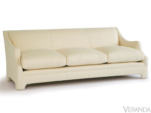 This fully upholstered sofa has a timeless, contemporary form with cushions that are puffed up so you feel like you're sitting on a cloud. It's also available as a sectional, which solves a big problem for any designer—where do you find an attractive sectional for a family-media room? From Lee Jofa, starting at $5,185; fabric not included.