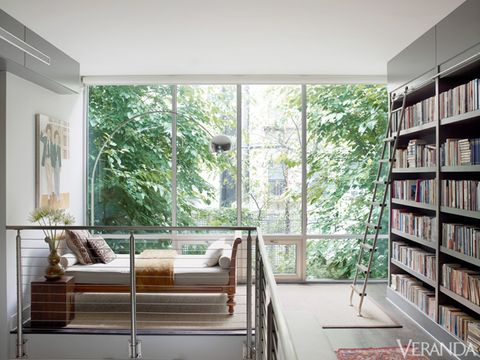 Room, Interior design, Wood, Green, Property, Floor, Shelf, Bookcase, Ceiling, Shelving,