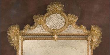 """<p>Antiqued Venetian mirror (56 3/4"""" h x 38"""" w), $7,500; <a href=""""http://www.decorativecrafts.com/shop/item.aspx?itemid=646"""">Decorative Crafts</a><a href=""""http://www.decorativecrafts.com/shop/item.aspx?itemid=646"""">.com</a></p>"""