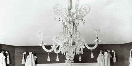 Room, Interior design, Floor, Ceiling fixture, White, Light fixture, Chandelier, Ceiling, Interior design, Style,