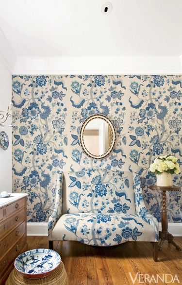 Blue, Room, Property, Bathroom, Interior design, Wall, Wallpaper, Porcelain, Pattern, Floor,