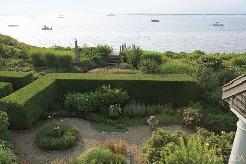 Plant, Shrub, Coastal and oceanic landforms, Garden, Watercraft, Groundcover, Sea, Hedge, Coast, Yard,