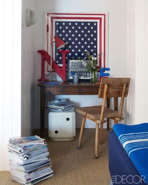 Blue, Room, Interior design, Textile, Hardwood, Linens, Majorelle blue, Interior design, Home, Flag of the united states,