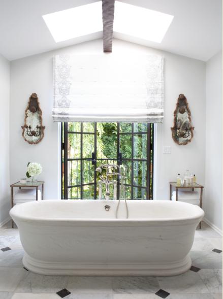 Plumbing fixture, Interior design, Room, Green, Property, Architecture, Floor, Wall, Bathtub, Tap,