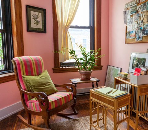Interior design, Room, Furniture, Hardwood, Table, Flowerpot, Interior design, Flooring, Window treatment, Houseplant,