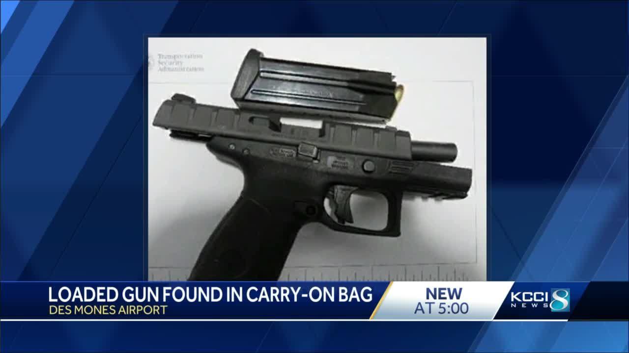 TSA prevents passenger from bringing handgun on plane at Des Moines airport