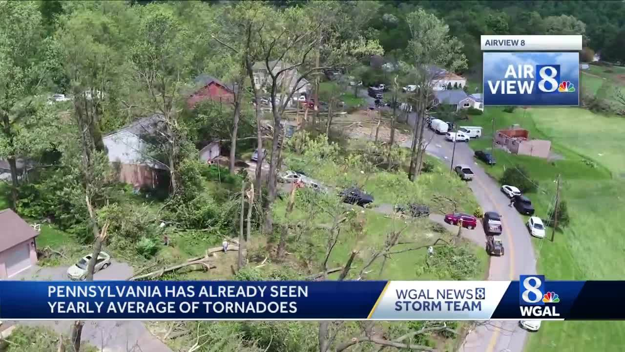 Pennsylvania already experienced yearly average number of tornadoes
