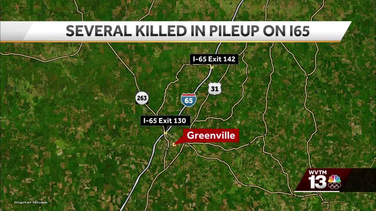 Deadly pileup crash on I-65 in Alabama