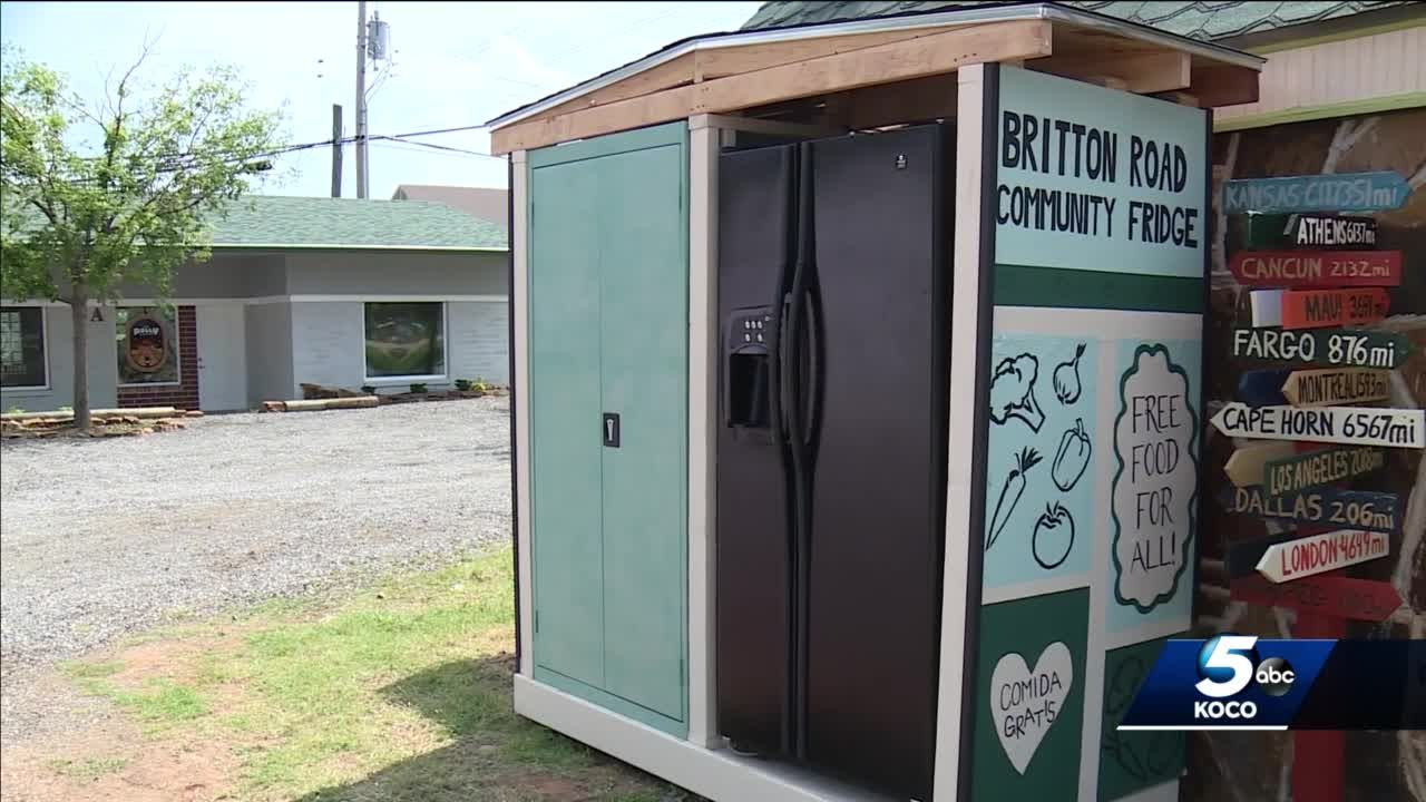 Historic district in Oklahoma City opening community fridge, pantry for those in need