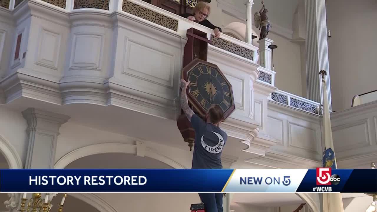 Timeless treasure: Clock in Old North Church ticks again
