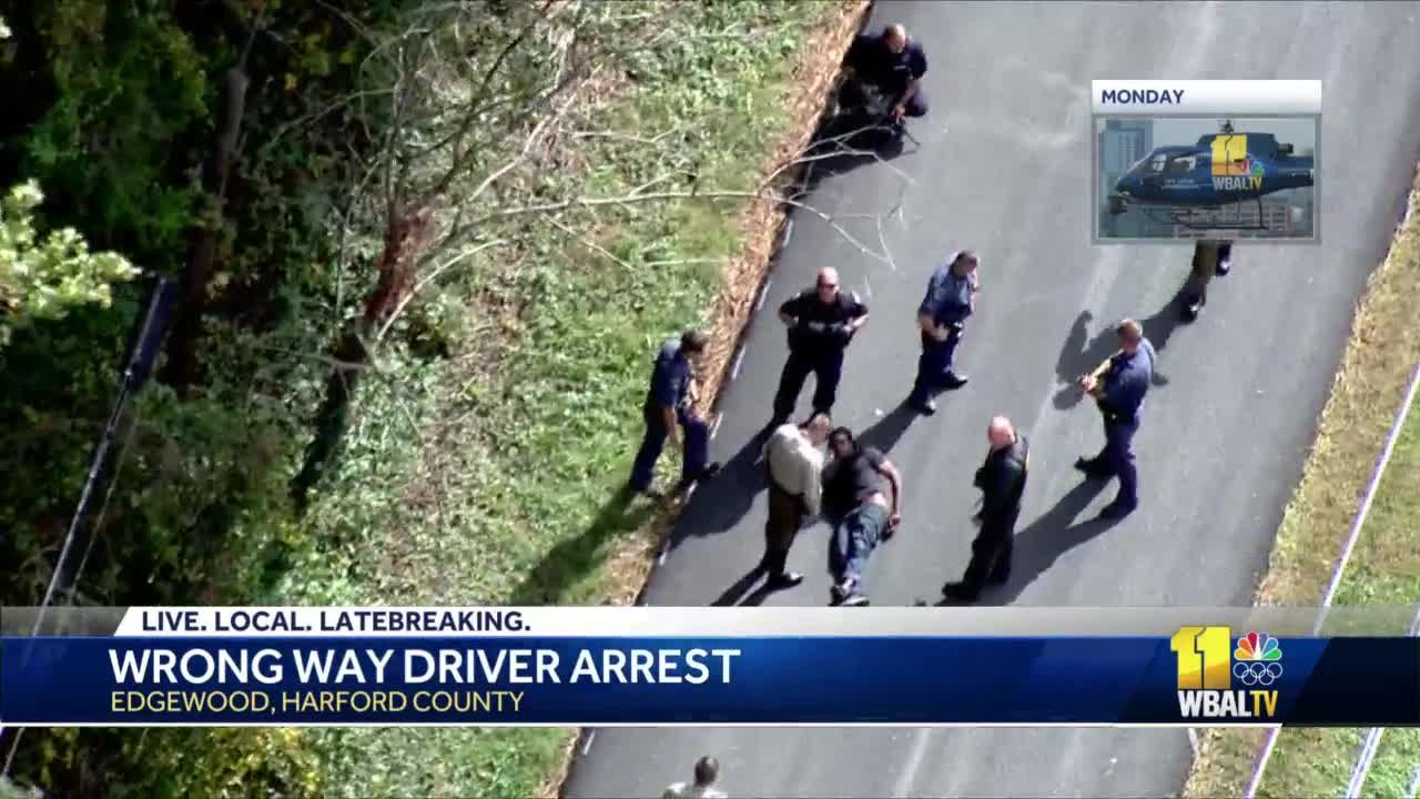 Man arrested after driving wrong way on I-95