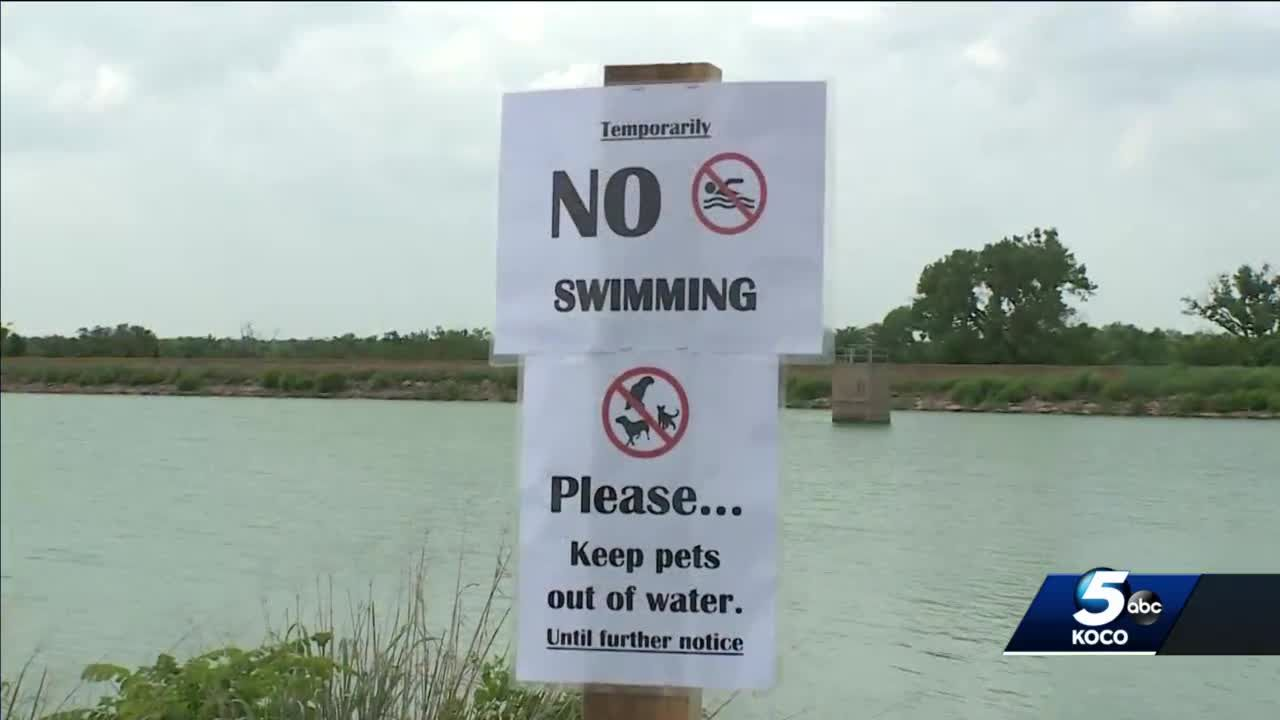 Liberty Lake in Guthrie closed due to discovery of large amount of blue-green algae