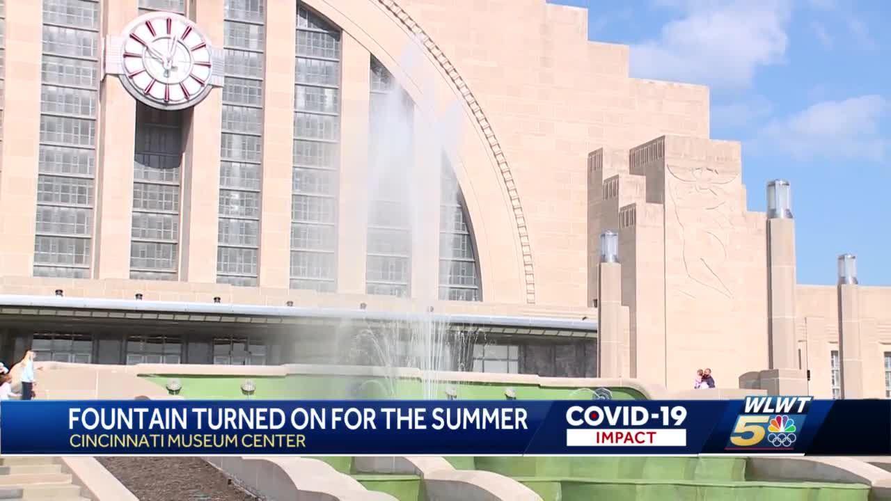 Union Terminal's historic fountain roars back to life for warm season