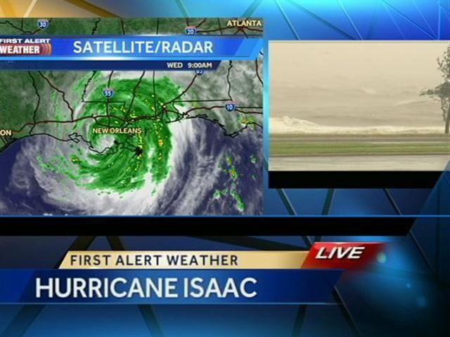 Isaac rolls into New Orleans