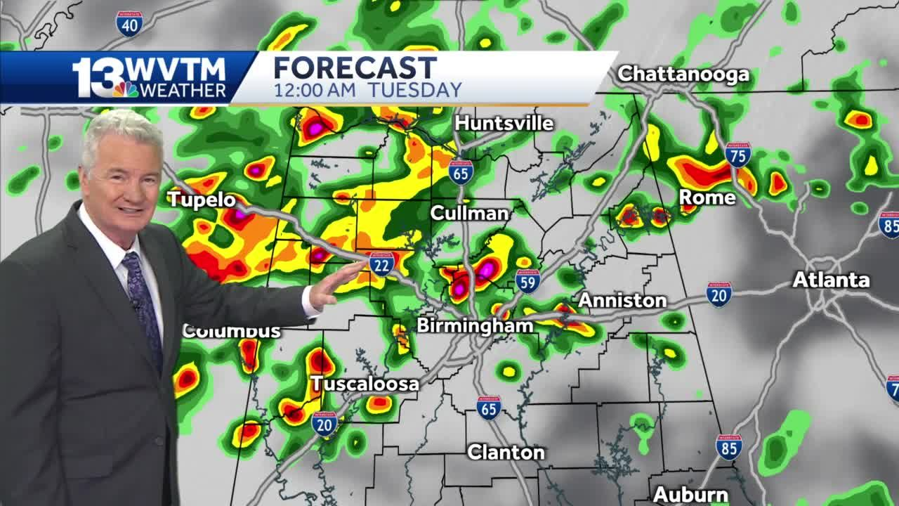 Thunderstorms into Tuesday morning, flash flooding possible