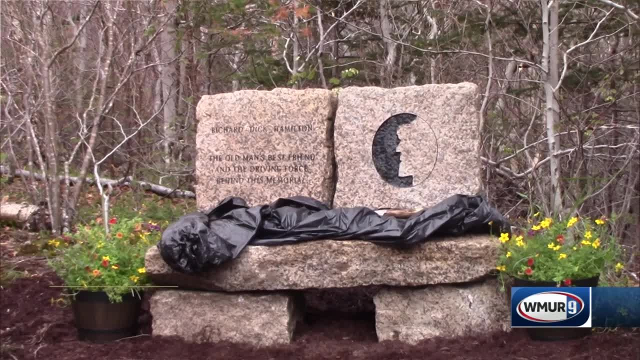 New bench honors man who helped raise money for Old Man of the Mountain memorial