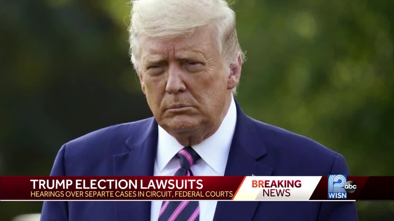 Schedule set for President Trump's newest lawsuit over Wisconsin results