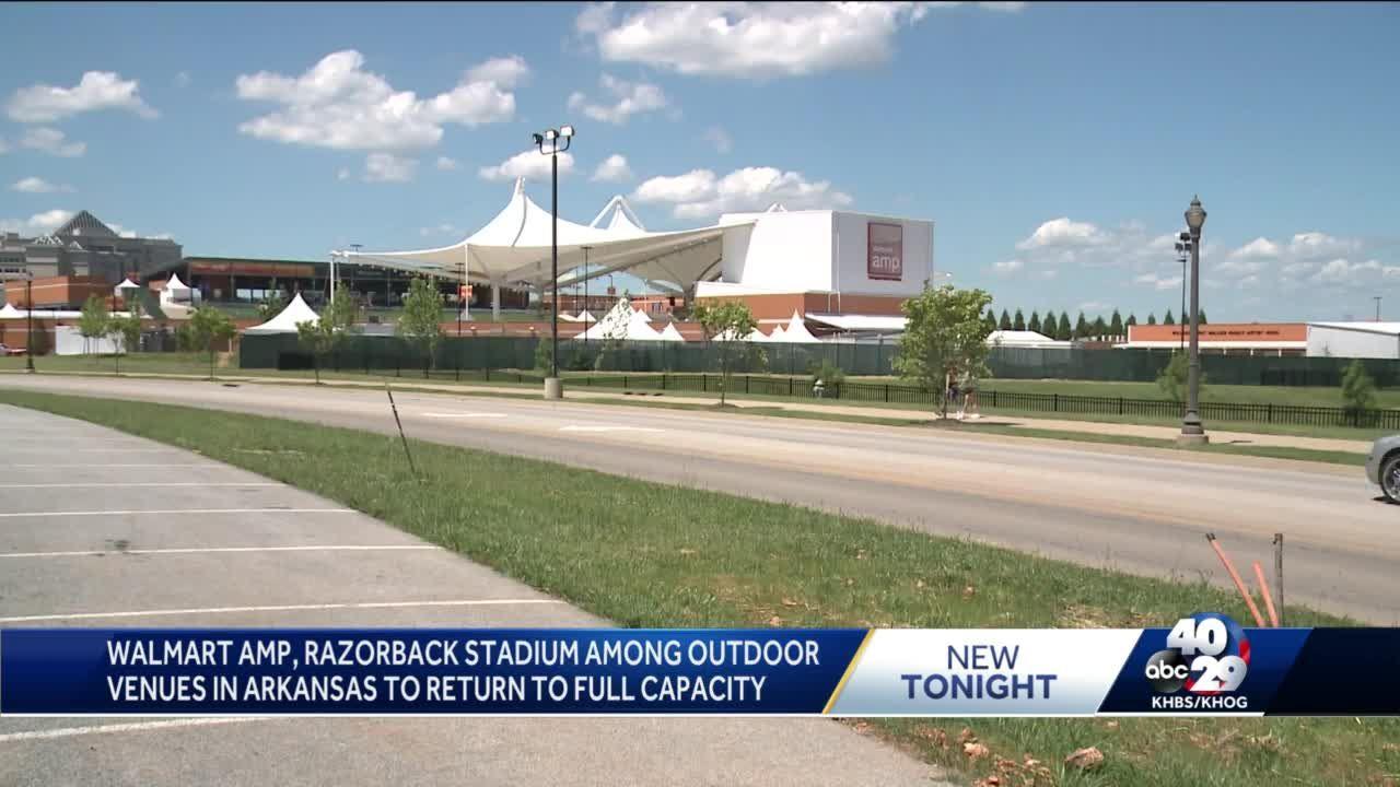 Walmart Amp, Razorback Stadium among outdoor venues in Arkansas to return to full capacity