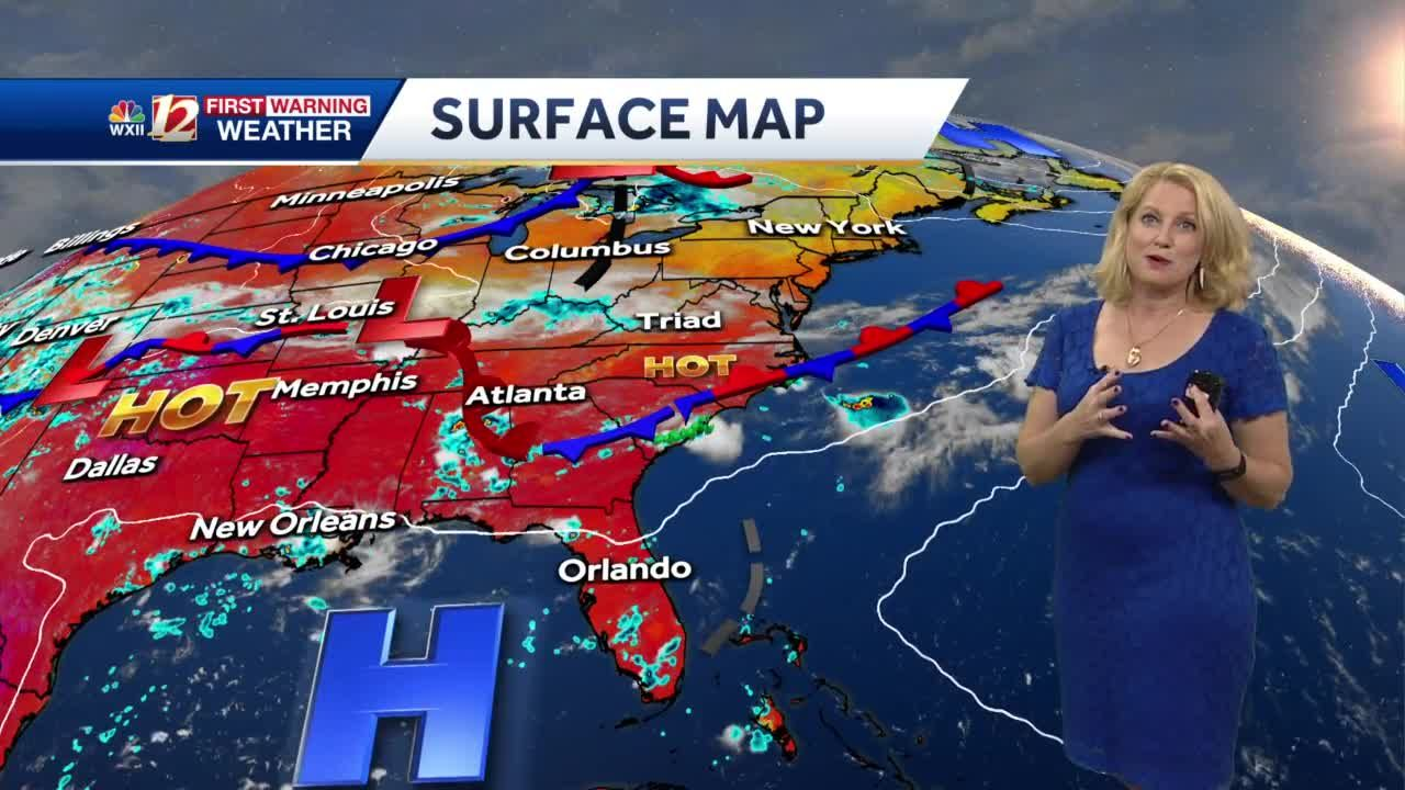 WATCH: Hot & Isolated Storms Sunday Plus Rain Chances Next Week!
