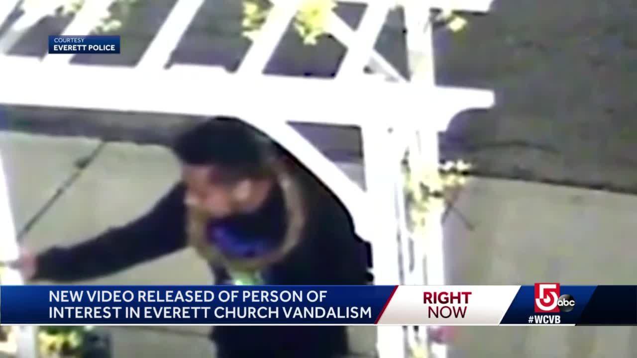 Person of interest sought in Everett church vandalism