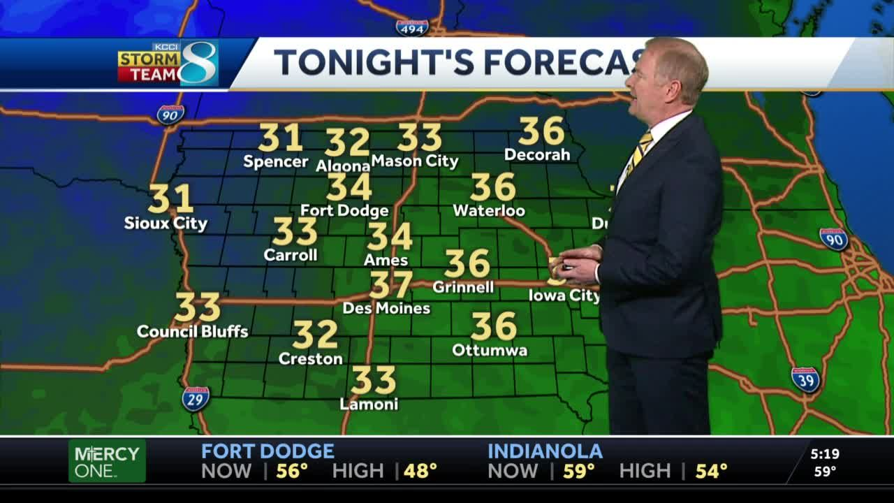 Cool evening temperatures bring patchy frost