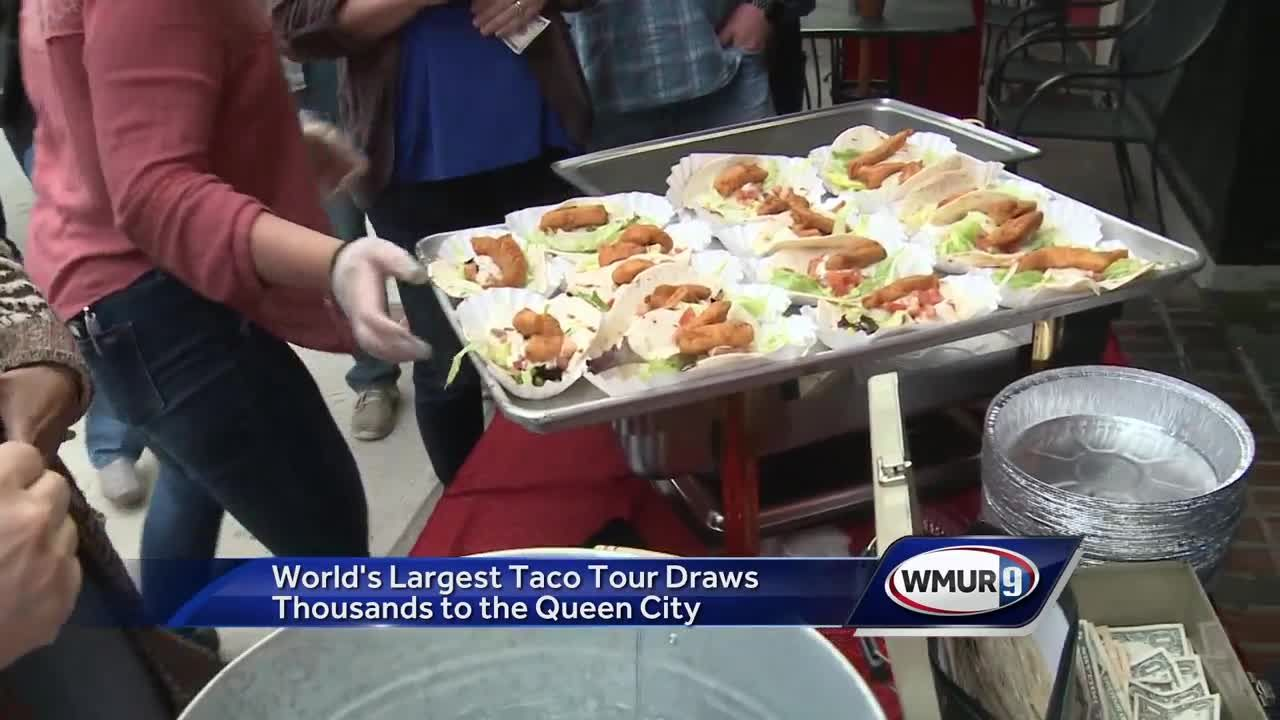 Cool Worlds Largest Taco Tour Draws Thousands To Manchester Download Free Architecture Designs Sospemadebymaigaardcom
