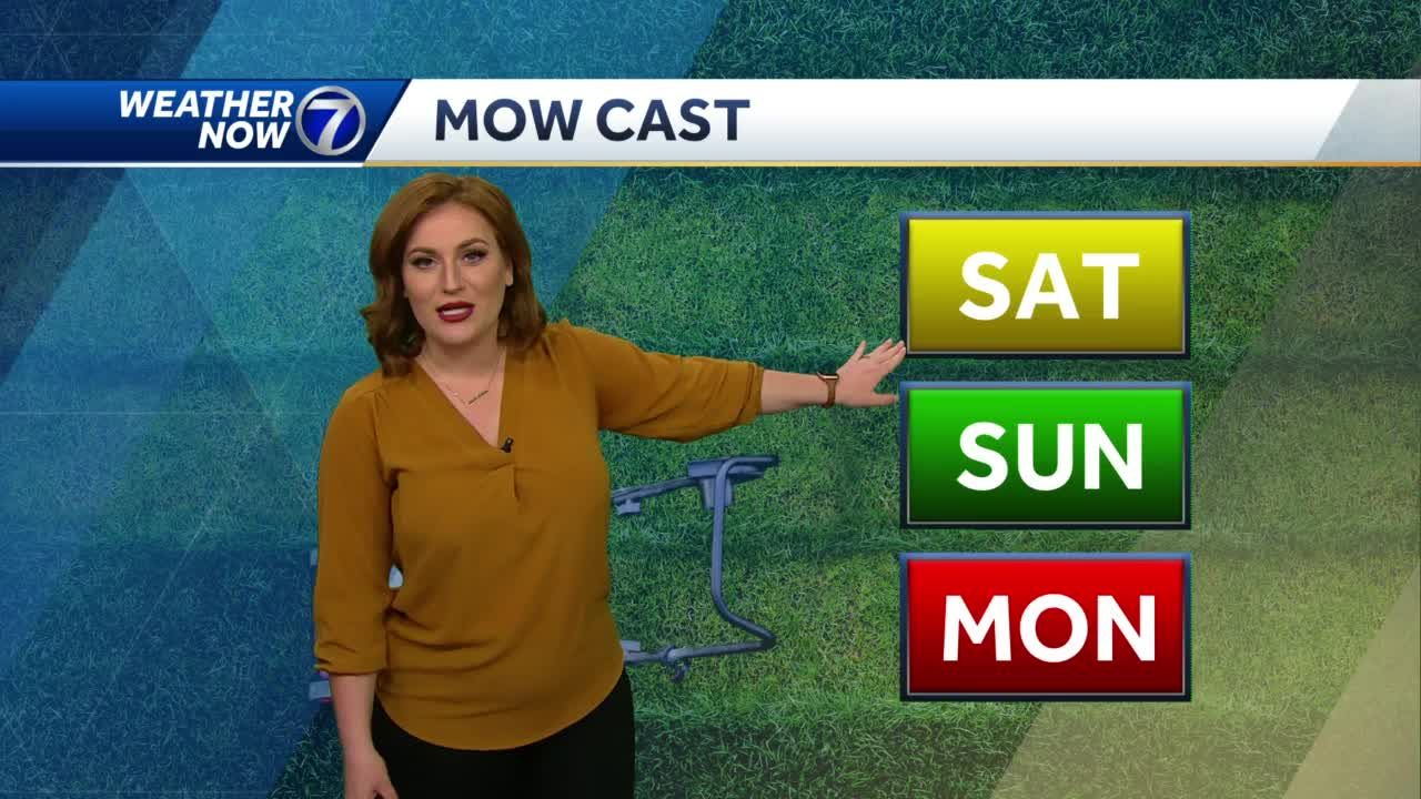 Damp Saturday morning, cool and breezy afternoon