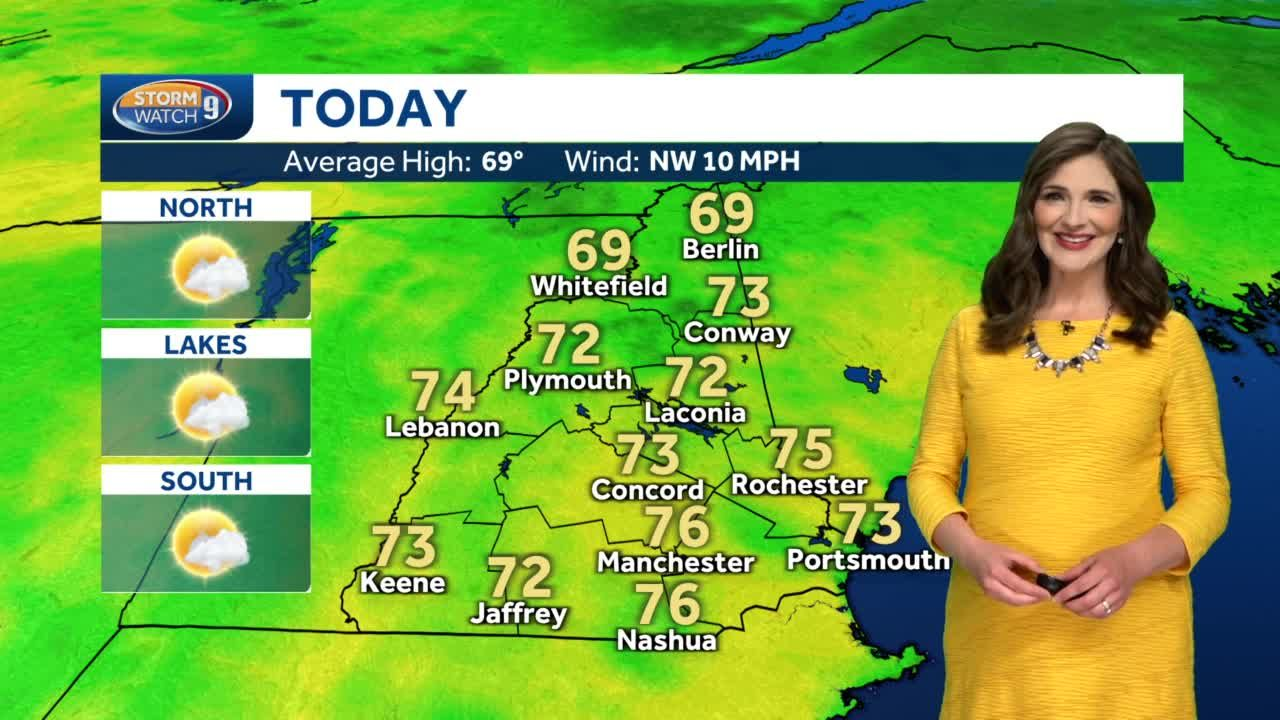 Watch: Slight chance of a pop up shower this afternoon