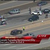 Update: Everett Turnpike at standstill after carjackings, crash