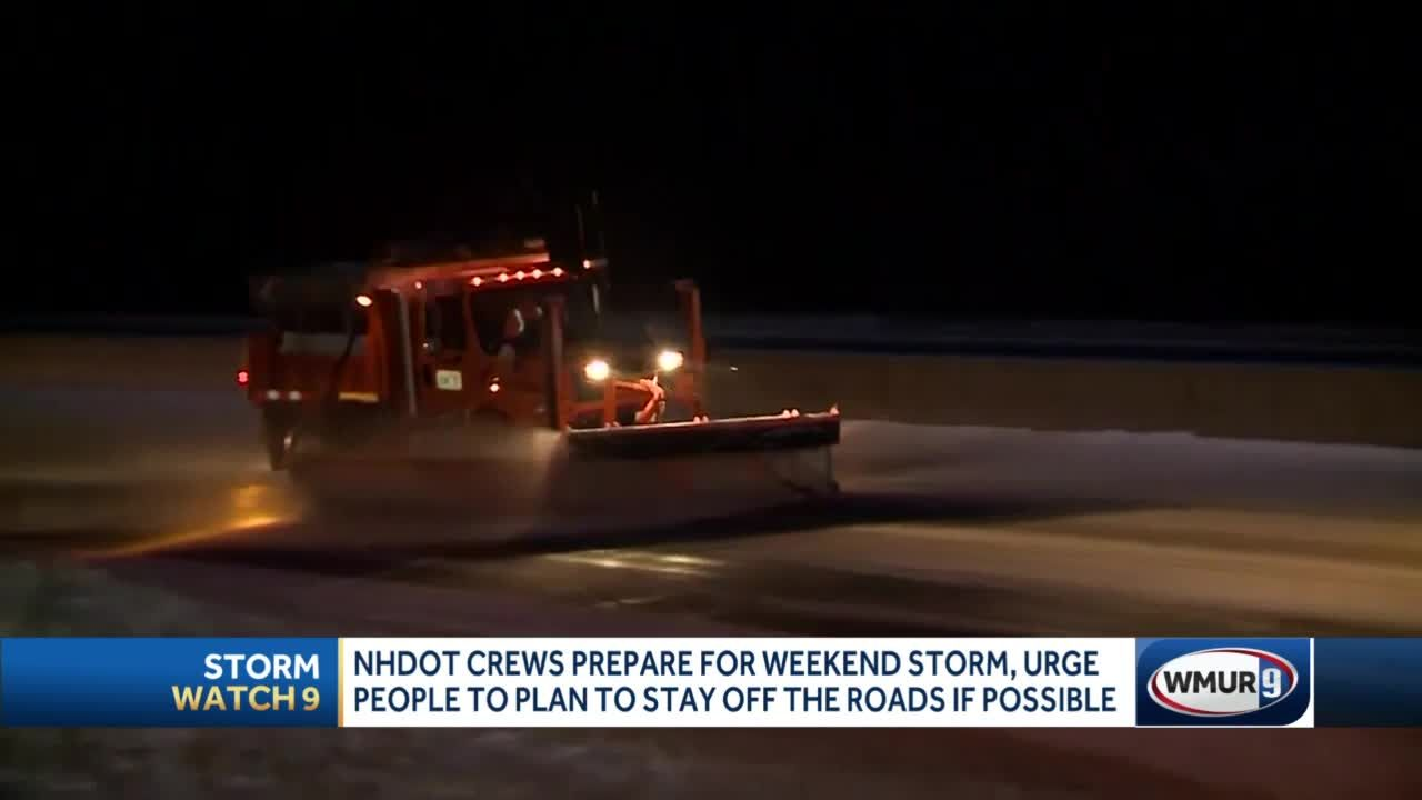 NH DOT preparing for weekend storm