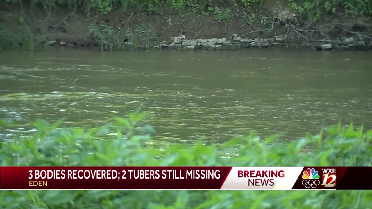 Rockingham County authorities: 3 bodies pulled from Dan River after tubers go over dam, 2 remain missing