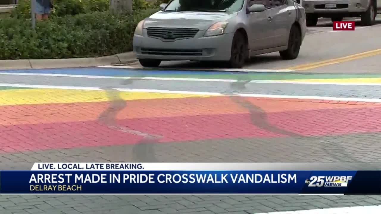 Arrest made in pride crosswalk vandalism