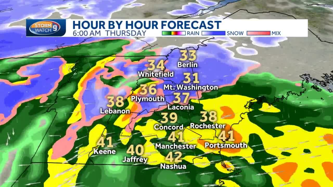 Hour by hour up to a foot of snow possible in Northern NH