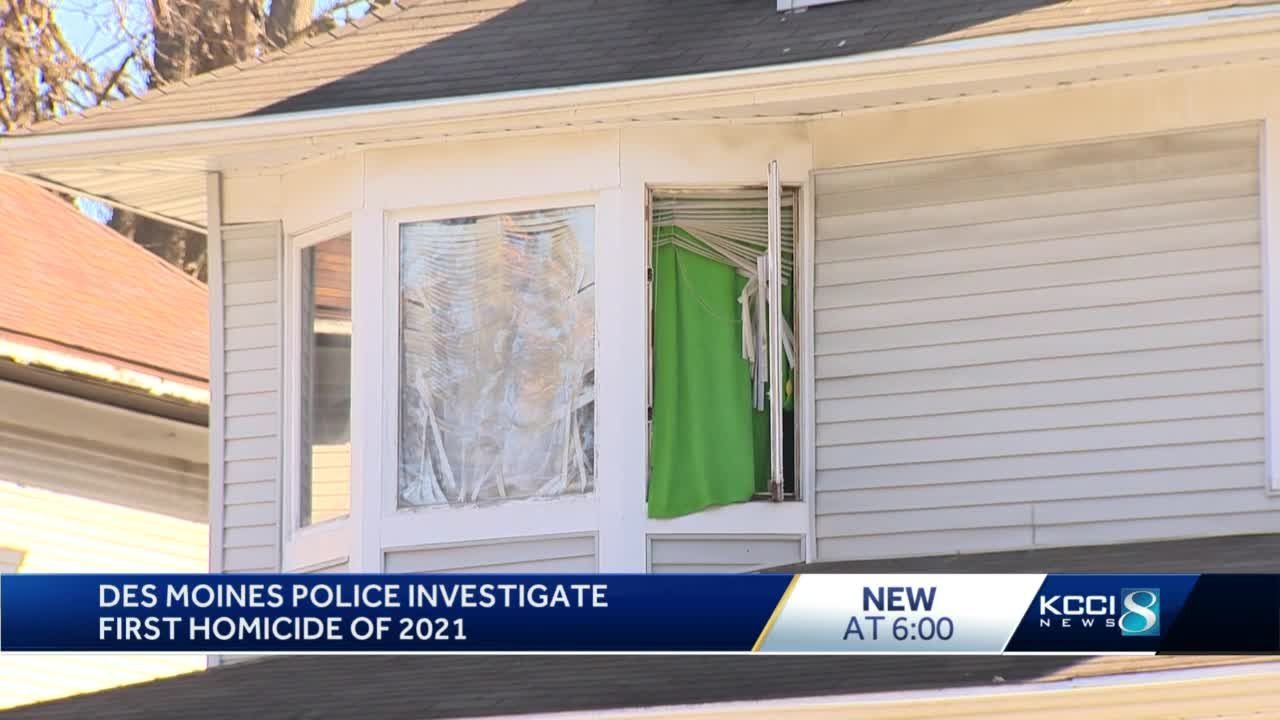 Des Moines Police are investigating the city's first homicide of 2021
