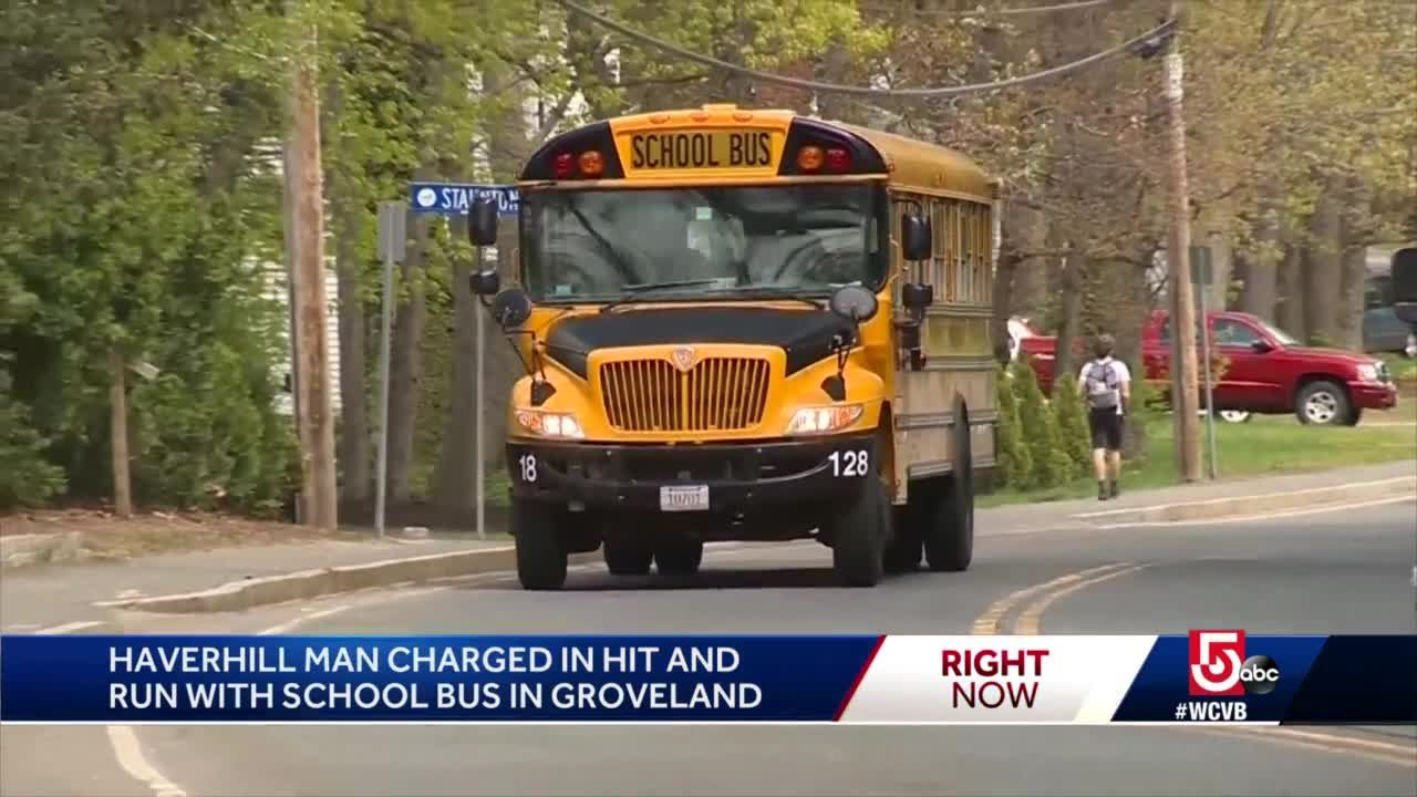 Landscaping truck sideswipes school bus in hit-and-run
