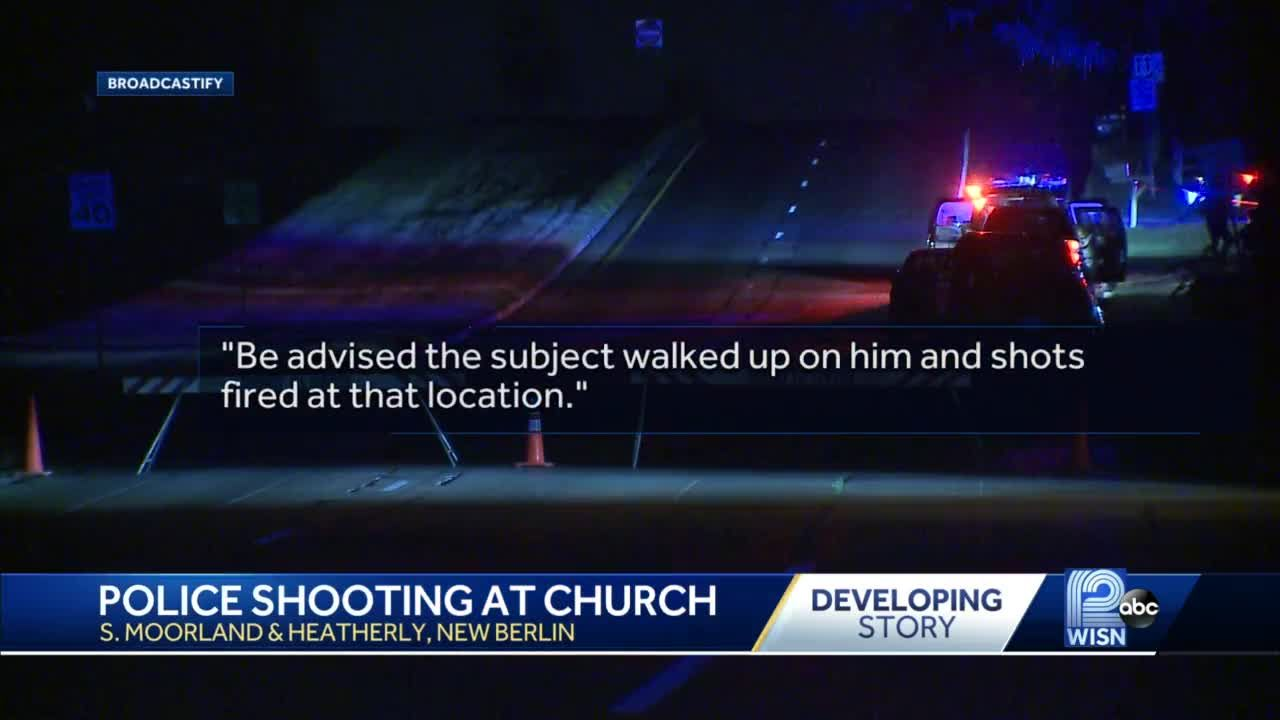 Police shoot suspect in church parking lot