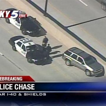 OKC stolen car chase ends on I-40, police say