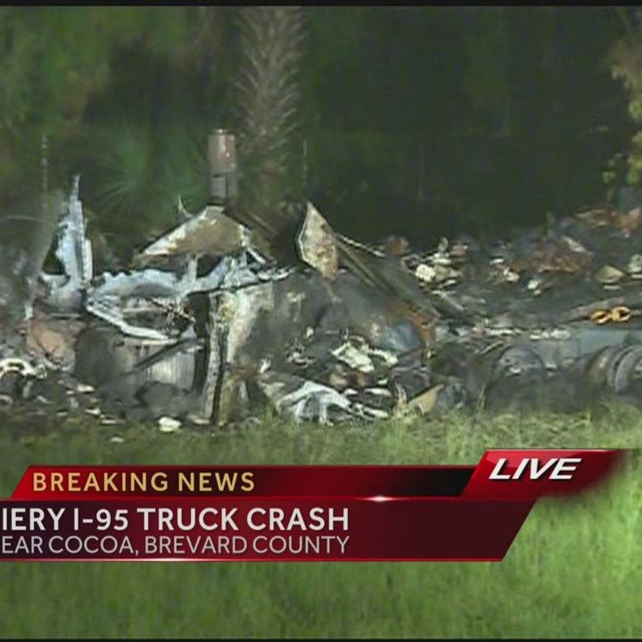 1 lane open on I-95 after fiery crash in Brevard County
