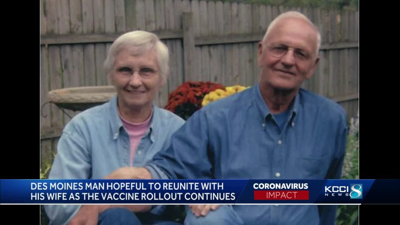 DSM man hopeful vaccine will help reunite him with his wife of 67 years