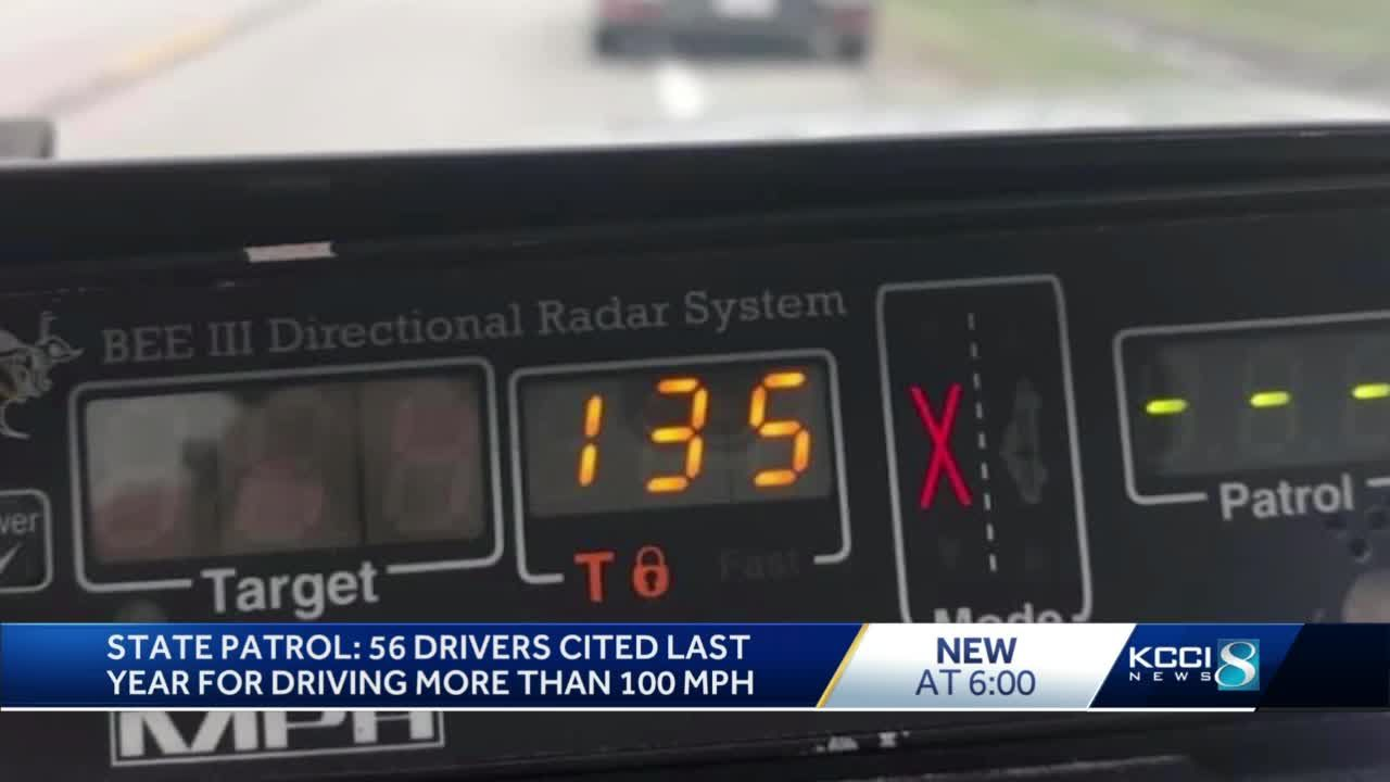 ISP says 2020 set a record of drivers speeding over 100 mph