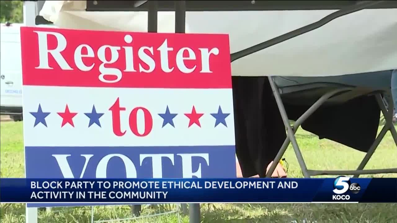 Committee holds block party to promote ethical development and activity in NE OKC community