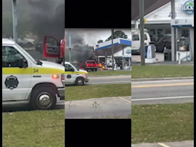 Explosion at Savannah gas station after truck hits gas pump